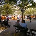 Pastoral Symphony - Public square and park with vendors-Prague