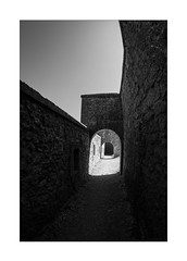 easy breakthrough (Armin Fuchs) Tags: arminfuchs nomansland citadelle sisteron light shadow breakthrough door walls diagonal fisheye 15mm