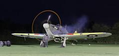 Sea Hurricane engine start (NRE) Tags: shuttleworth oldwarden night enginerun warbird hawker aircraft propeller