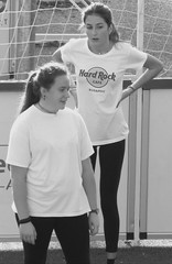 Some girls are bigger than others (barbabo71) Tags: street people blackandwhite girls gym session