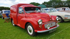 1972 Austin Morris Minor Van. (ManOfYorkshire) Tags: gma993k austin morris minor van car auto motoring 1972 restored preserved 948cc petrol classic doncaster show 2019 red