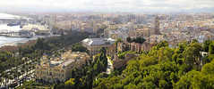 Picturesque, elegantly landscaped gardens in the historic Málaga (B℮n) Tags: jardinesdepuertaoscura málaga fuentedelastresgracias roundabout paseodelparque malaka malaga fuentedelastresninfas fountain lafarolapromenade promenade alcazaba fortress moorish history monument roman theatre oldestcity costadelsol spain spanje andalusia andalucia vista oranges palmtrees mediterranean center street motor walls openmuseum hill outerwalls palace ancient citadels holiday sightseeing park universityofmalaga universidaddemálaga catedraldelaencarnacióndemálaga jardinesdepedroluisalonso motorcyclist traffic road fountainfilledgardens medieval overlooking sea lush rotonde fontein tamronsp2470mm malagastownhall bancodeespaña miradordegibralfaro gibralfaroviewpoint 50faves topf50 100faves topf100