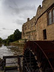 Warwick castle. (S.K.1963) Tags: warwick castle water wheel sky river england trees olympus omd em1 mkii 1240mm 28 mm