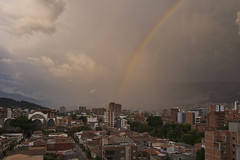 rainy day... dream away... (J. Kaphan) Tags: medellin colombia southamerica latinamerica travel travelphotography traveler travelblogger traveling letsgosomewhere globetrotter rainbow rainyday clouds cloudporn city cityscape fujifilm fujixseries fuji photography photographers fujixt3