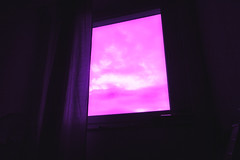 Infrared Window (Tzvlf) Tags: home window ventana casa rosa pink violet infrared ir filter filters infrarrojo filtro filtros cpl 58mm canon eos 700d sky cielo cortina curtain cloud clouds nube nubes dark oscuro contrast contraste