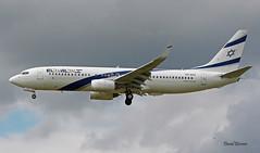 Boeing B737 ~ 4X-EKC  El Al (Aero.passion DBC-1) Tags: spotting cdg 2019 dbc dbc1 david biscove aeropassion avion aircraft aviation plane airlines airliner airport roissy boeing b737 ~ 4xekc el al