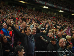 Salford Fans Try To Rally The Team-120432 (G I Lyons) Tags: rugbyleague betfredsuperleague grandfinal oldtrafford salfordreddevils sthelens saints trafford greatermanchester unitedkingdom
