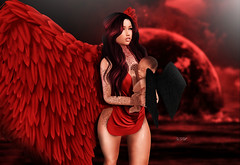 ◈№.841 - little angel (Alica Release) Tags: scandalize origimals carolg carol g tattoo catwa maitreya spellbound hair cosmopolitan sl secondlife event the arcade gacha baby sweet little angel