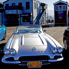 Santa Barbara, California, USA (pom'.) Tags: panasonicdmctz101 car vintagecar santabarbara california usa stearnswharf chevroletcorvette chevrolet corvette chevy 1962
