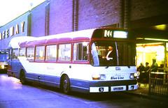 Slide 144-98 (Steve Guess) Tags: eastleigh hants hampshire england gb uk bus station solent blueline leyland national hampshirebus