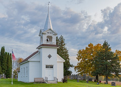 Country Church (Greg Riekens) Tags: zoar religious usa minnesota moravian church nikond500 countrychurch midwest architecture histroic rural steeple white clapboard