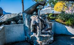 2019 - HAL Alaska Cruise - 18 - Juneau Hard Rock Miners Sculpture (Ted's photos - For Me & You) Tags: alaska nikon juneau cropped juneaualaska alaskacruise 2019 tedmcgrath tedsphotos nikonfx nikond750 usa vignetting sculpture bronze bronzesculpture thehardrockminers juneauthehardrockminers thehardrockminersjuneau thehardrockminerssculpture blue bluesky miners edway edwayjuneau edwaysculpture edwayhardrockminers hardrockminersbyedway