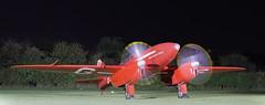 DH 88 Comet racer engine run (NRE) Tags: shuttleworth oldwarden night enginerun dehavilland aircraft propeller grosvenorhouse gacss