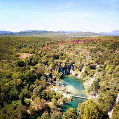 Kravice From Above (davе) Tags: bosniaandherzegovina 2019 europe kravice studenci mavicair drone aerial forrest trees water river bridge waterfall