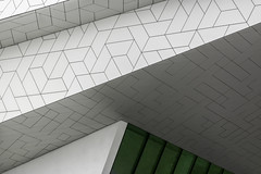White and green (RobMenting) Tags: pattern building noordholland abstract city noperson perspective filmmuseum modern geometric wall travel town futuristic contemporary netherlands europe architecture green eye business amsterdam white nederland