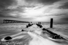 A NEW DAY HAS COME (lynneberry57) Tags: beach hartlepool steetley water flow sea tide waves mono pier seascape landscape nature light canon70d leefilters coast sky clouds blackwhite bw old