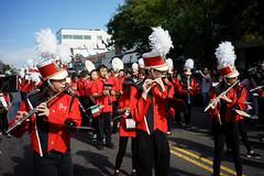 Flutes (dtanist) Tags: nyc newyork newyorkcity new york city sony a7 7artisans 35mm brooklyn bath beach bensonhurst columbus day parade italian american fiao school students marching band instruments music flutes red