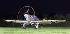 Sea Hurricane engine run (NRE) Tags: shuttleworth oldwarden night enginerun warbird hawker aircraft propeller
