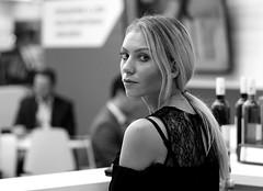 Eye contact (Pavel Jurásek) Tags: black white noir bw photography monochrom femme human giirls public pb moments blackwhite street moment streets steetphoto impublic city monochrome blackandwhite mono monotone flickr image photo people sreetlite