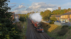 Royal Visitor to Clitheroe (garstangpost.t21) Tags: clitheroe clitheroecastle 1z87 shadows sun londoneuston carlisle 6201 princesselizabeth steam steamloco steamlocomotive lancashire