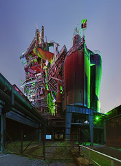 colours of steel 3 (ChristianMandel) Tags: lapadu landschaftsparkduisburg steelworks stahlwerk duisburg nachtaufnahme nightshot ilce7iii sonya7iii loxia25mmf24 panorama hugin