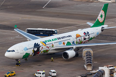"EVA AIR A330-302 B-16331 ""Bad Badtz-Maru"" 00-13 (A.S. Kevin N.V.M.M. Chung) Tags: aviation aircraft aeroplane airport airlines apron plane spotting mfm macauinternationalairport airbus evaair a330 a330300 speciallivery hellokitty"