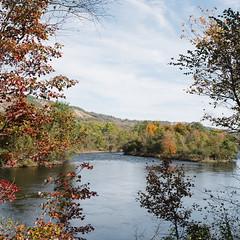 D&L Trail (broodingelm) Tags: trees sky dltrail river bowmanstown