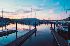 Still Moment (Selectivebits) Tags: sunset bay sausalito california water dock reflection waterenvirons