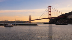Golden Hour at the Golden Gate (Selectivebits) Tags: sanfrancisco goldengatebridge california beidge sunset water sea 80
