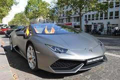 Lamborghini Huracan LP610-4 Spyder (Monde-Auto Passion Photos) Tags: voiture vehicule auto automobile cars lamborghini huracan spyder cabriolet convertible roadster gris grey mat sportive prestige france paris