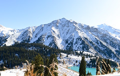 Snowy peak (Francisco Anzola) Tags: kazakhstan countryside mountains tianshan peak travel snow national park alpine water lake turquoise
