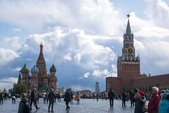 Red Square (Debatra) Tags: russia redsquare stbasilscathedral cathedral moscow mockba kremlim moscowkremlin redstar spasskayatower spasskaya ussr sovietunion europe overcast sky skyporn d3300 nikon nikkor
