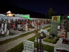 Villabassa Nierderdorf Churchyard at night (martin_vmorris) Tags: villabassa nierderdorf churchyard night italy dolomites chiesa di santo stefano