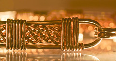 Woven wire (Elisafox22) Tags: elisafox22 sony ilca77m2 100mmf28 macro macrolens telemacro lens macromondays hmm wire woven bracelet silverwire clasp bokeh indoors stilllife elisaliddell©2019