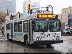 Winnipeg Transit #657 (vb5215's Transportation Gallery) Tags: winnipeg transit 1995 excalgary new flyer d40lf