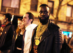 Mr. T is Still so Cool (kirstiecat) Tags: mrt nostalgia costume halloween boystown chicago illinois america people night dark canon exciting mood atmosphere