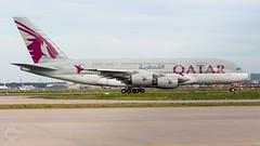 A7-APE Qatar Airbus A380-800 LineUp Rwy 18 25.4.19@FRA (Guido Klöckner) Tags: flugzeug plane aircraft germany deutschland main fraport frankfurt eddf fra canon vliegtuig luchthaven luftfahrt eos700d himmel jet airbus a380 qatar
