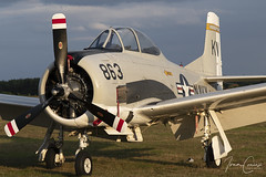 North American T-28B Trojan – Untitled – NX377WW – Leopoldsburg-Beverlo (EBLE) – 2019 09 13 – Parked – 02 – Copyright © 2019 Ivan Coninx (Ivan Coninx Photography) Tags: ivanconinx ivanconinxphotography photography aviationphotography northamerican t28 t28b trojan nx377ww sanicole leopoldsburgbeverlo eble airshow aviation static display warbird sunsetairshow