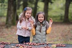 DSCF7982-rt (capturedbyflo) Tags: chestnutpicking chestnuts chataignes chataigne france outdoor balade nature kids kid portrait fuji fujifilm forest foret montmussy divonne