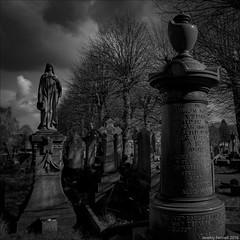 Greenbank Cemetery in 2016 (zolaczakl) Tags: sigma1835mmf18dchsmlens nikond7100 greenbankcemetery gravestones graveyard cemetery blackandwhitebristol blackandwhite mono monochrome bristol easton bw photographybyjeremyfennell jeremyfennellphotography england uk 2016