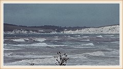 STORMY SEAS ISLE OF WIGHT (mike ware) Tags: stormy seas isle of wight