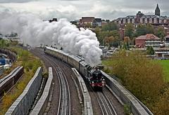 on the bridge (midcheshireman) Tags: steam train locomotive greatwestern 7029 70xx cluncastle cheshire chester mainline bridge