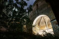 Église saint-sauveur (labeanch) Tags: église saint sauveur ruine abside sony lumière lightpainting light tree arbre art architecture arche nuit nuages clouds night vestige eyguieres
