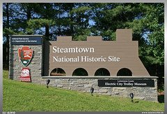 Steamtown Sign (uslovig) Tags: national historic site park service steamtown us department of the interior lackawanna county electric city trolley museum schild sign scranton pennsylvania pa usa america amerika