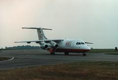 G-TNTA (IndiaEcho) Tags: airport airfield aircraft aviation aeroplane quiet bae 146200 gtnta air tnt qt luton trader foyle ltn