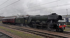Flying Scotsman in the Gloom (garstangpost.t21) Tags: 4472 60103 flyingscotsman doncaster dull wet cloudy gloom 5z56 nenevalleyrailway yorknrm nationalrailwaymuseum