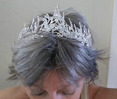 Ice Princess tiara/crown from LA ComicCon (ok2la) Tags: ice princess tiara crown la comiccon comic convention sci fi fairy faerie faery silver 2019 los angeles