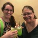 Valerie and Glenda Drinking Green Elixer