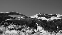 Landscape Arch (Bill Herndon) Tags: archesnationalpark bw flickr k30 landscapearch pentax usa utah arch blackandwhite desert monochrome published rock sandstone sky wrherndon moab unitedstatesofamerica