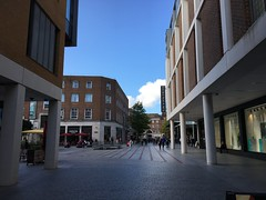 Princesshay - Bedford Square (lazy south's travels) Tags: exeter devon england english britain british uk city center centre building architecture shopping mall bedford street road scene